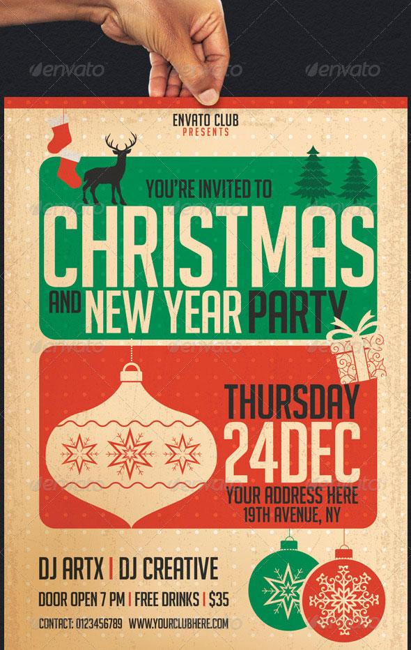 30 christmas holiday psd  u0026 ai flyer templates
