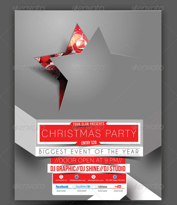 Infographic Tutorial infographic tutorial illustrator cs3 templates for flyers : 30 Christmas Holiday PSD & AI Flyer Templates | Pixel Curse