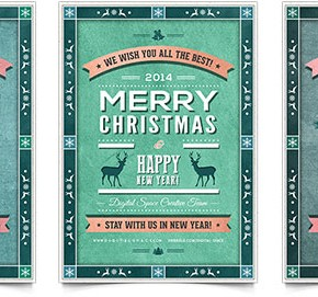 30 Christmas Holiday PSD & AI Flyer Templates