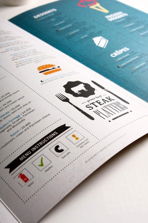Creative and beautiful restaurant menu designs pixel