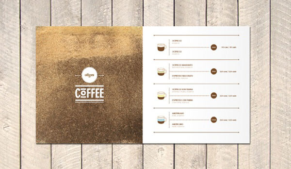 Coffee avenue @ olives cafe by Roman Kirichenko corporative restaurant menu design coffee