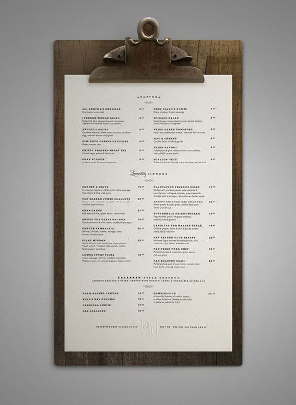 40 Creative And Beautiful Restaurant Menu Designs | Pixel Curse