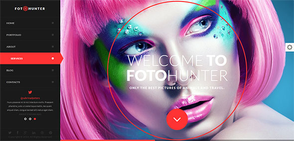 modern photography website template