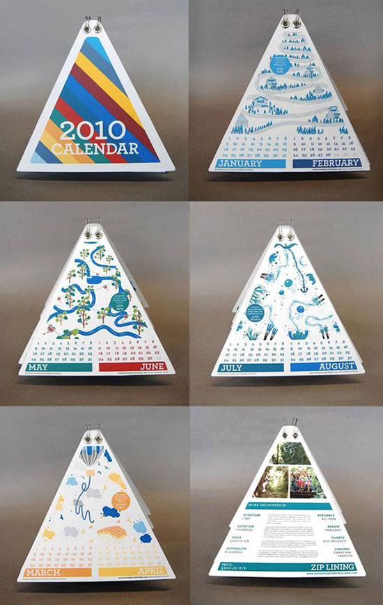 Creative Table Calendar Ideas : Calendar designs that will help you stay creative