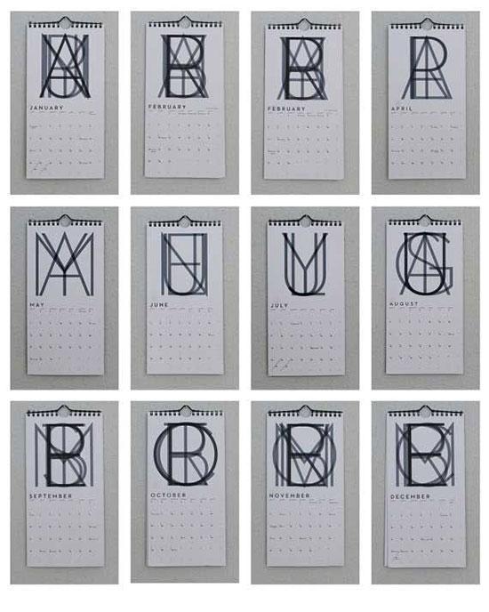 Neutra font calendar