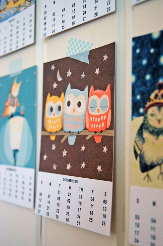 Gi det videre: Owl Lover Calendar 2013 – free download PDF
