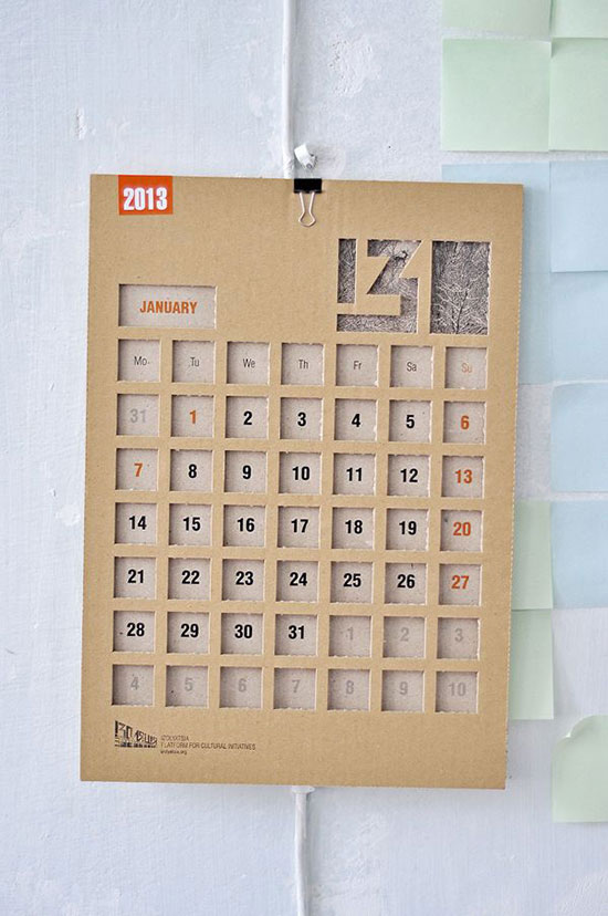 Unusual Calendar Design : Calendar designs that will help you stay creative