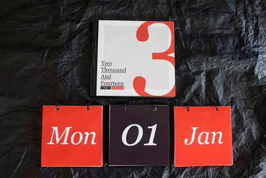 Typography Calendar Creative : Calendar designs that will help you stay creative