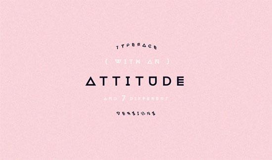 Attitude font