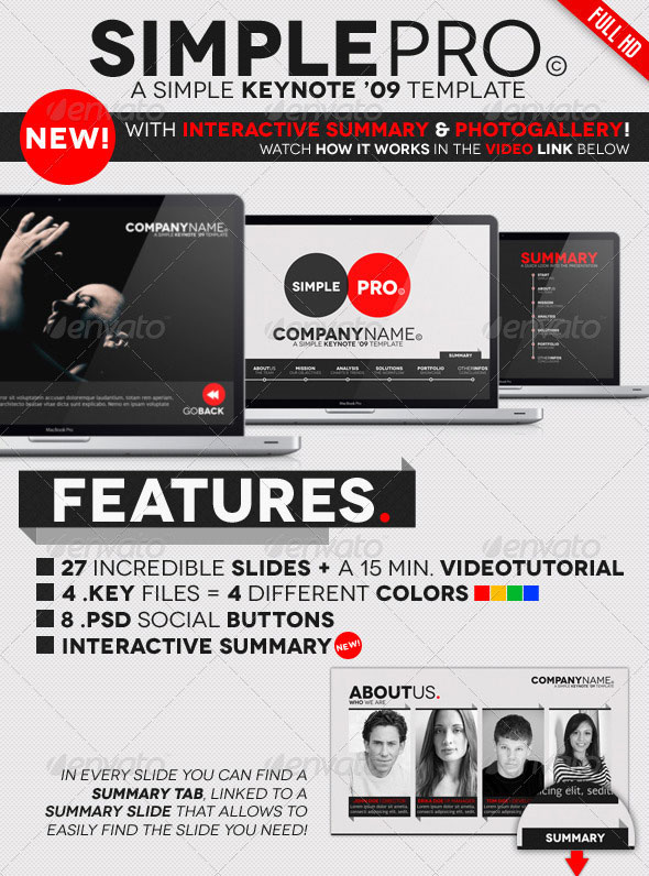 Simple Pro – Keynote Interactive Template