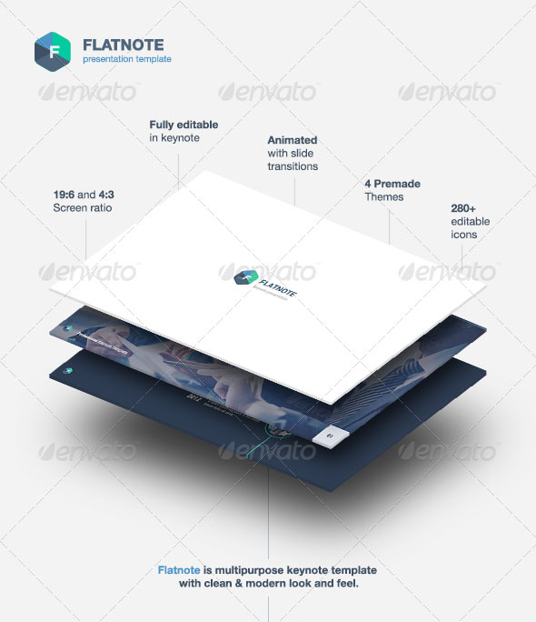 Flatnote - Business Keynote Template