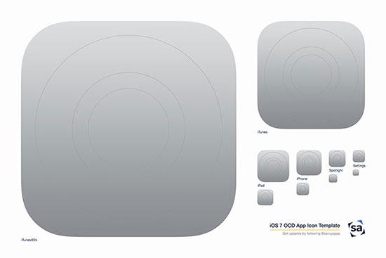 iOS 7 OCD App Icon Template