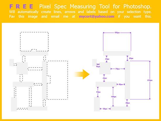 Pixel Spec Measuring Script for Photoshop