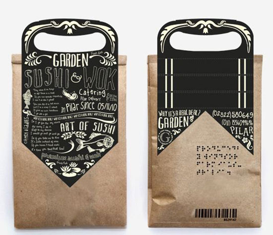 Bag topper Garden Sushi Packaging