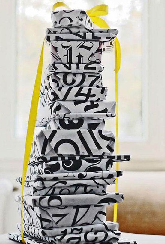 Typographic Gift Wrap
