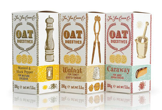 Oat biscuits. Illustration