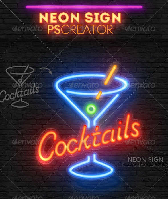 neon-light-sign-photoshop-actions