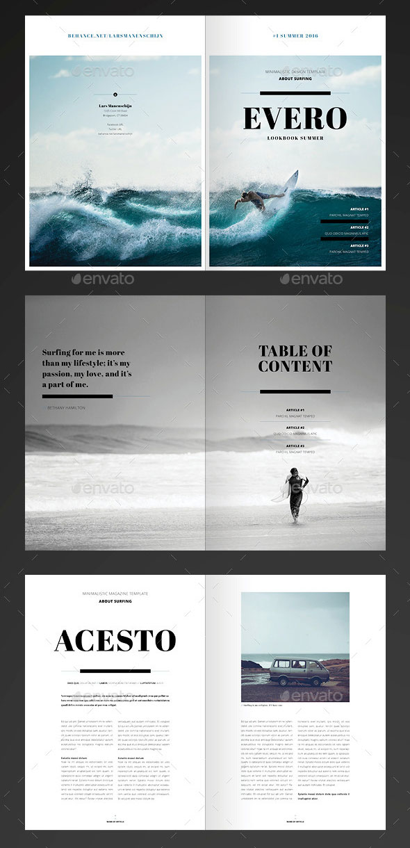 20 amazing indesign magazine layout cover design for Adobe indesign magazine templates free download