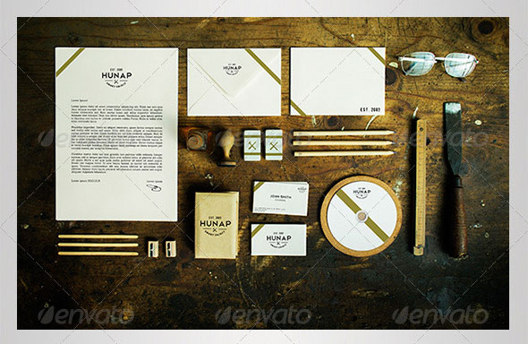 Wood Stationery / Branding Mock-Up