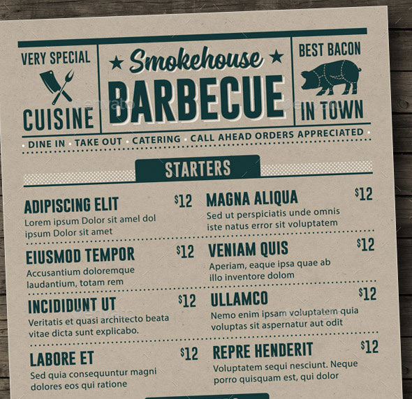 25 Best Restaurant Menu Design Templates 2015 | Pixel Curse