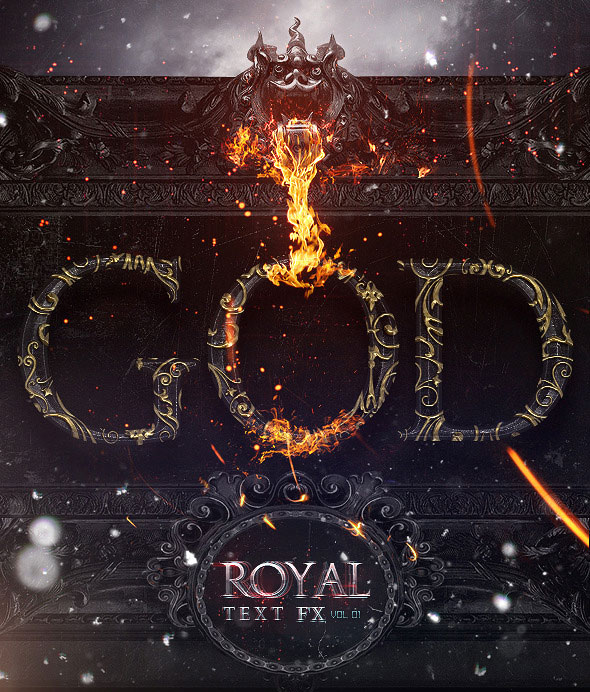 Royal Photoshop Text FX Vol 01