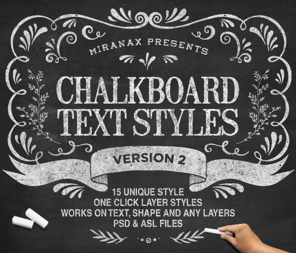 New Chalkboard Text Effects Vol.2