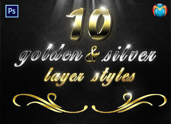 Golden & Silver Layer Styles V.2