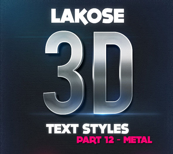 Lakose 3D Text Styles Part 12