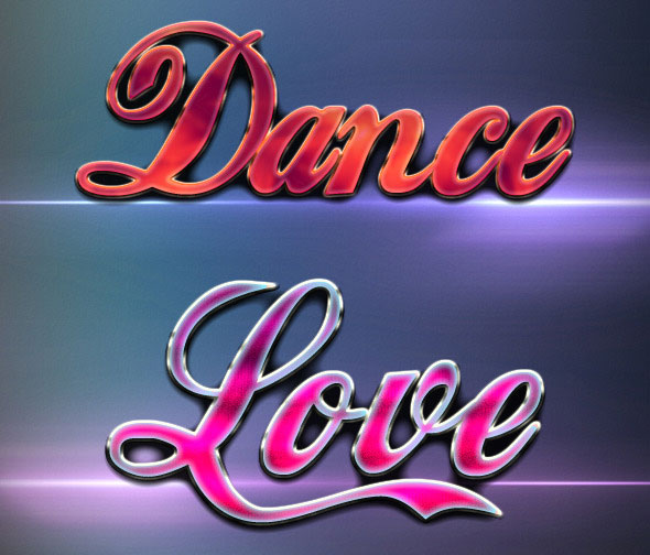 Shiny Love Party Style Text Effects