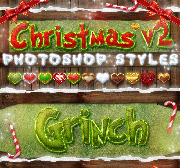 Christmas Photoshop Styles V2