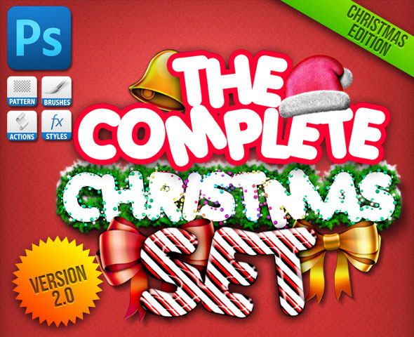 Christmas Generator Set: Actions and Text Styles