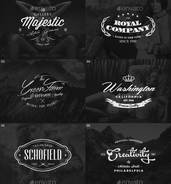 30 Vintage Badges / Labels / Logos Bundle Vol.2