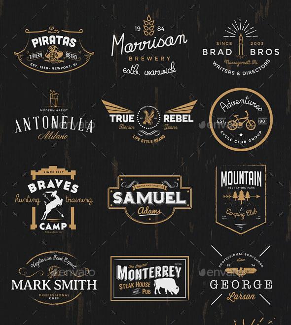 25 Awesome Logo Badge Templates | Pixel Curse