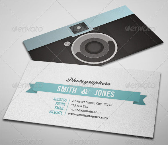 Sleek Illustrated Photography Business Card