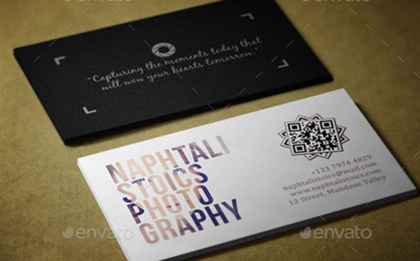 Simple Photography Business Card