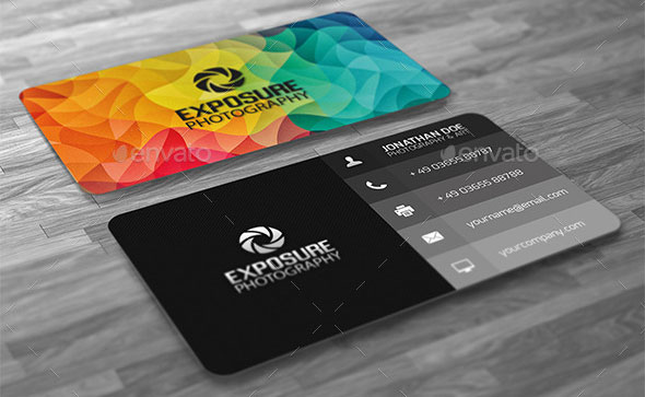 Creative Abstract Cubism Polygon Business Card