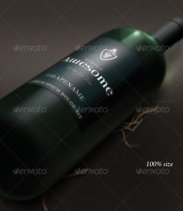 Bottle and Label Mockup