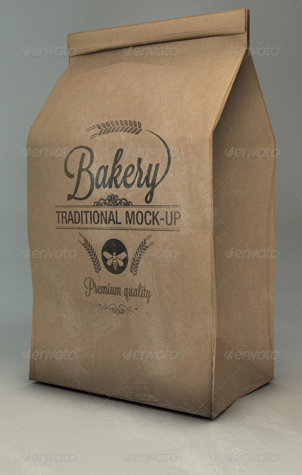 Paper Bag Mock-Up | Flour - Coffee Bag Mock-Up