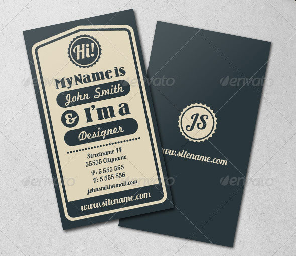25 cool psd retro vintage business card templates pixel curse vintage typographic business card wajeb Images