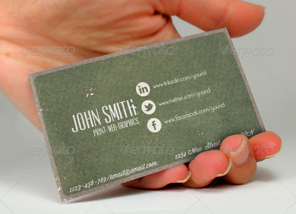 Social Media Vintage Business Card