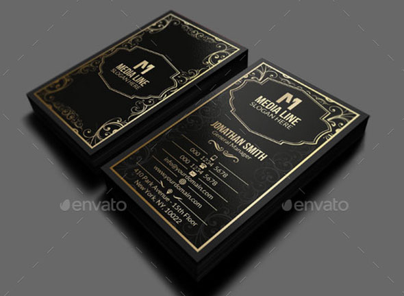 Retro Gold Business Card