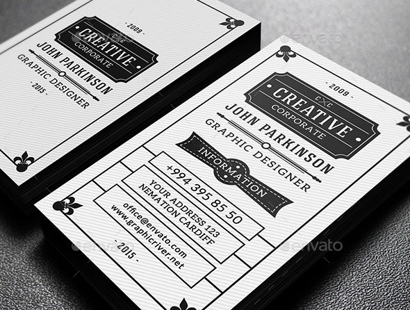 25 cool psd retro vintage business card templates pixel curse