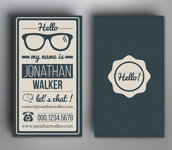 25 Cool PSD Retro & Vintage Business Card Templates | Pixel Curse