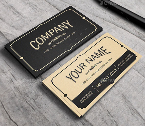 25 Cool PSD Retro & Vintage Business Card Templates