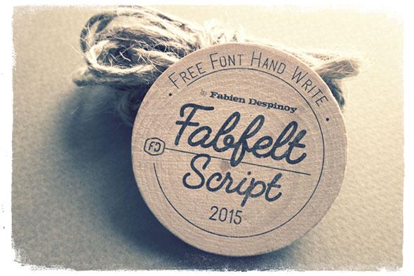 Fabfelt script - Free font by Despinoy Fabien