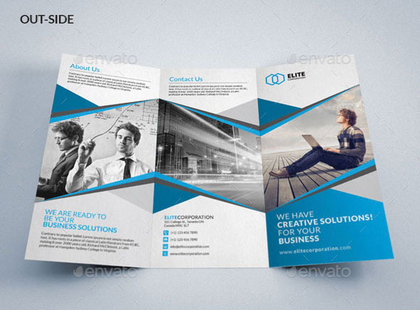 Best PSD Trifold Brochure Templates Pixel Curse - Tri fold brochure photoshop template