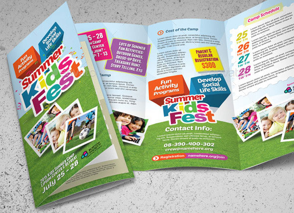 Best PSD Trifold Brochure Templates Pixel Curse - Fun brochure templates