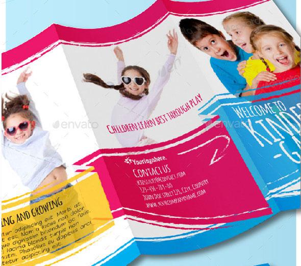 45 Best PSD Trifold Brochure Templates – Kindergarten Brochure Template