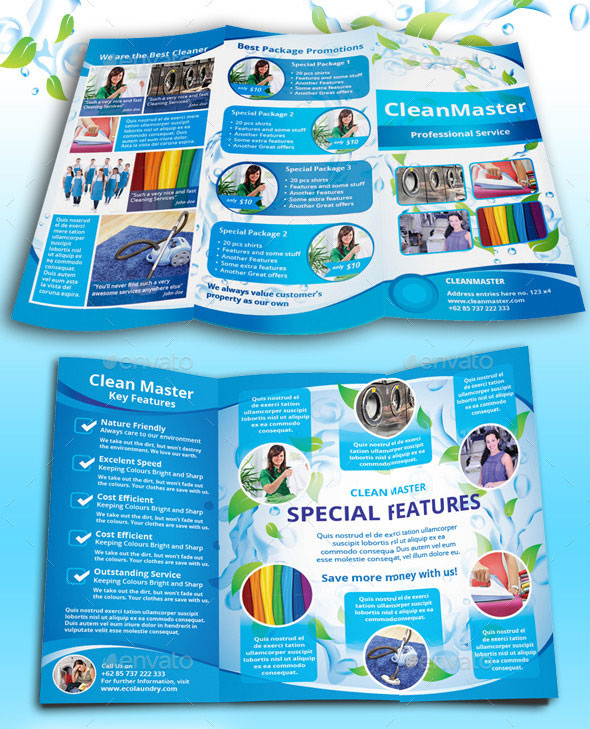 laundry flyers templates - 45 best psd tri fold brochure templates pixel curse