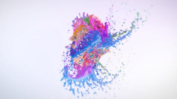 Colorful Splash Logo Reveal